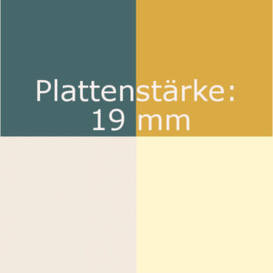 B) Farbdekor 19mm