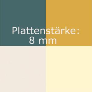 A) Farbdekor 8mm