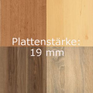 B) Holz-Dekorplatte 19mm