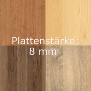 A) Holz-Dekorplatte 8mm