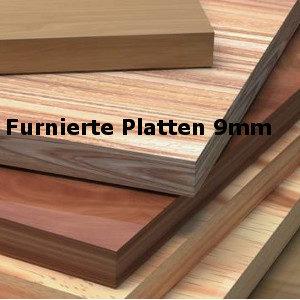 A) Furnierte Platten 9mm